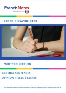 Leaving Cert French general sentences