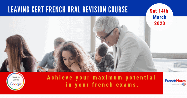 French Oral Revision Course 7th of March 2020