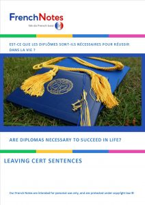 are diplomas necessary leaving cert sentences frenchnotes