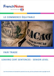 Fair Trade Leaving Cert Sentences