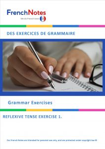 French Notes Grammar Exercise