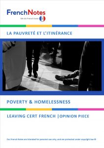 poverty homelessness french notes