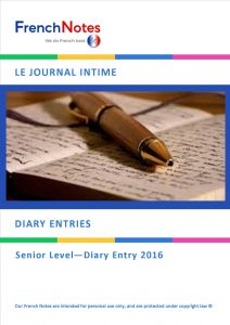 Diary Entry 2016 Leaving Cert French